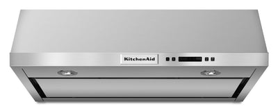 "KitchenAid 30"" Under-the-Cabinet 4-Speed Range Hood - Range Hood in Stainless Steel"