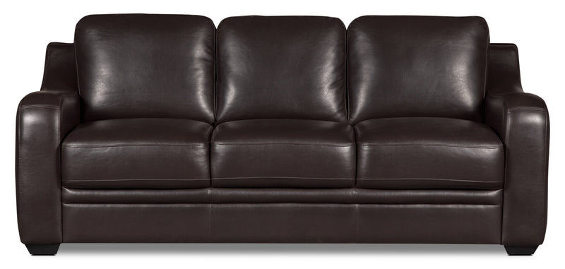 Benson Leather-Look Fabric Sofa – Brown|Sofa Benson en tissu d'apparence cuir - brun