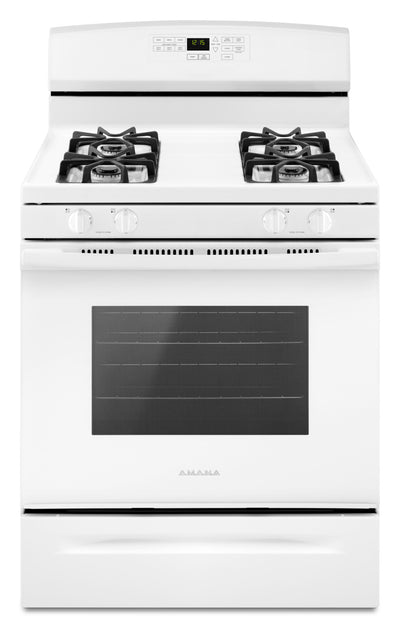 Amana 5.0 Cu. Ft. Freestanding Gas Range with Self-Clean – AGR6603SFW - Gas Range in White