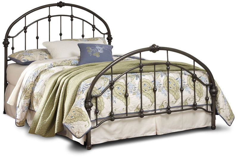 Nashburg Queen Metal Bed – Bronze - Traditional style Bed in Bronze Metal