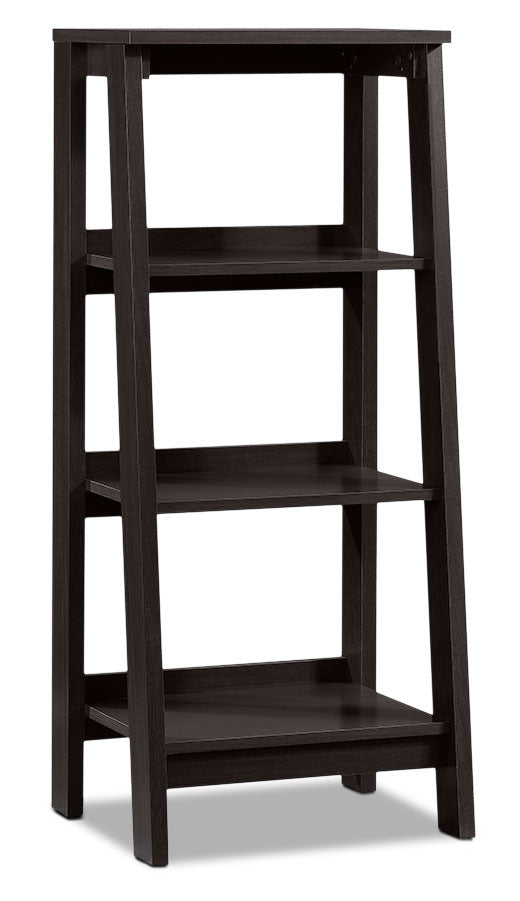Stockbridge Bookcase with Three Shelves – Jamocha Wood|Bibliothèque Stockbridge à trois tablettes - bois jamocha