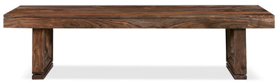 Brownstone Dining Bench - Rustic style Dining Bench in Brown Sheesham