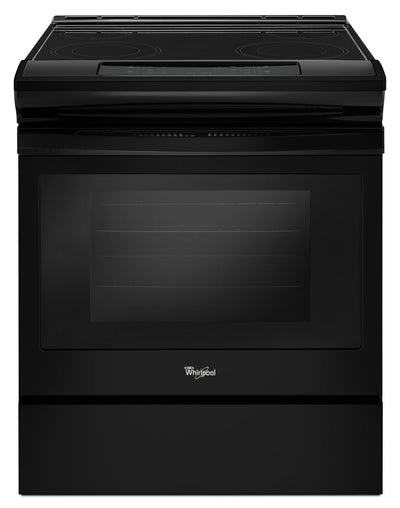 Whirlpool 4.8 Cu. Ft. Guided Electric Front Control Range with the Easy-Wipe Ceramic Glass Cooktop - Electric Range in Black