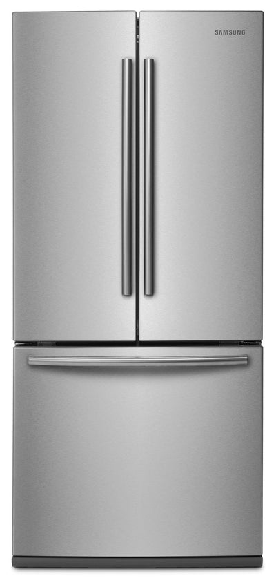 "Samsung 22 Cu. Ft. 30"" Wide French-Door Refrigerator - Stainless Steel - Refrigerator in Stainless Steel"