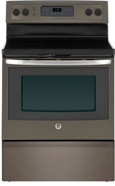 GE 5.0 Cubic Foot Freestanding Electric Self-Cleaning Range – JCB630EKES - Electric Range in Slate
