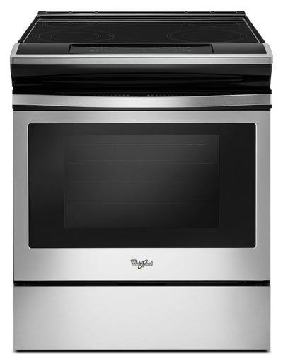 Whirlpool 4.8 Cu. Ft. Guided Electric Front Control Range with the Easy-Wipe Ceramic Glass Cooktop - Electric Range in Stainless Steel