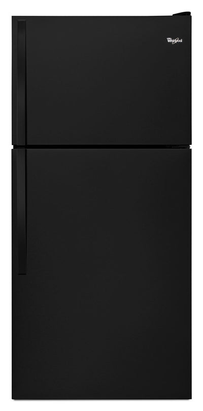 "Whirlpool® 18.2 Cu. Ft. 30"" Wide-Top Freezer Refrigerator – Black - Refrigerator in Black"