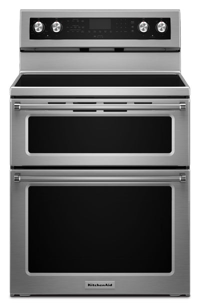 "KitchenAid 30"" Electric Double Oven Convection Range - YKFED500ESS