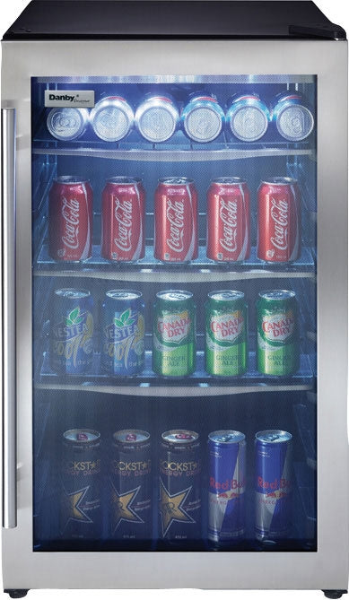 Danby 4.3 Cu. Ft. Beverage Centre with Stainless Steel Door Frame – DBC434A1BSSDD - Refrigerator in Black