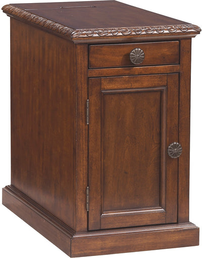 Coventry Accent Table – Ornate Brown - Traditional style End Table in Dark Brown Wood