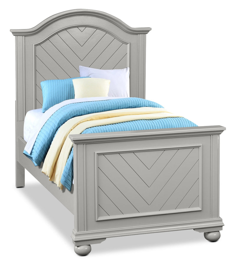 Brooke Twin Bed – Grey|Lit simple Brooke - gris