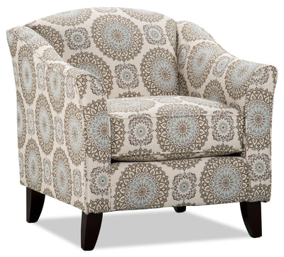 Tula Fabric Accent Chair – Brianne Twilight - Traditional style Chair in Twilight