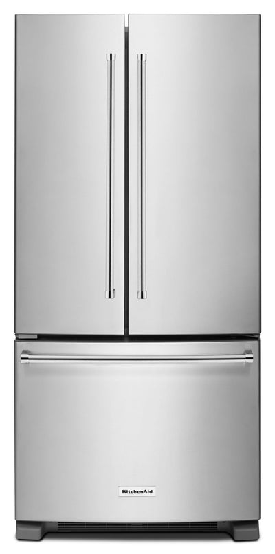 KitchenAid 22.1 Cu. Ft. French Door Refrigerator with Interior Water Dispenser - Stainless Steel - Refrigerator with Ice Maker in Stainless Steel