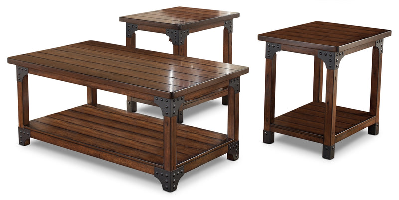 Murphy 3-Piece Coffee and Two End Tables Package|Ensemble une table à café et deux tables de bout Murphy 3 pièces