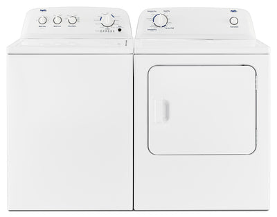 Inglis 4.4 Cu. Ft. I.E.C. Top-Load Washer and 6.5 Cu. Ft. Electric Dryer – White - Laundry Set in White