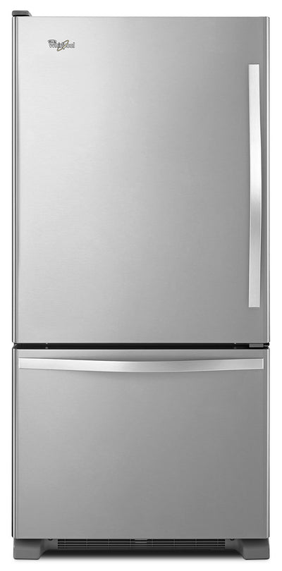 Whirlpool 19 Cu. Ft. Bottom-Mount Refrigerator – WRB329LFBM - Refrigerator in Stainless Steel