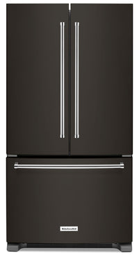 KitchenAid 25 Cu. Ft. French Door Refrigerator with Interior Dispenser - KRFF305EBS