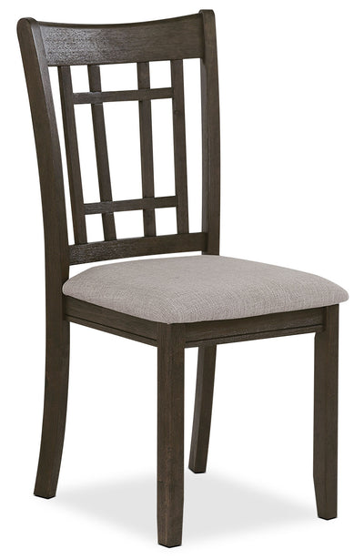 Desi Dining Chair – Brown - Contemporary style Dining Chair in Grey Brown Rubberwood Solids and Oak Veneers
