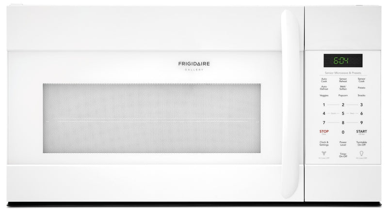 Frigidaire Gallery 1.7 Cu. Ft. Over-The-Range Microwave with Sensor Cook – CGMV176NTW|Four à micro-ondes à hotte intégrée Frigidaire Gallery de 1,7 pi³ - CGMV176NTW