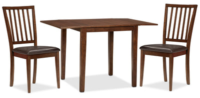 Adara 3-Piece Square Table Dining Package - Contemporary style Dining Room Set in Burnished Mango
