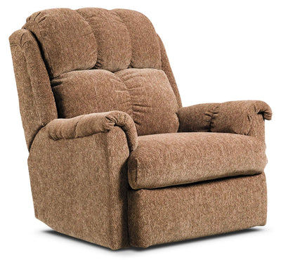 Brown Chenille Power Reclining Chair - Contemporary style Chair in Brown