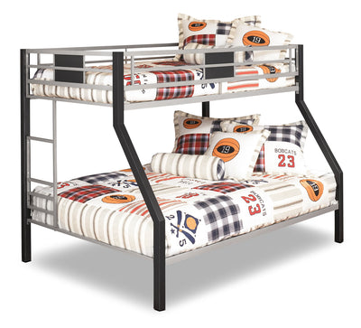 Dinsmore Twin/Full Bunk Bed|Lits simple et double superposés Dinsmore|B10656BK