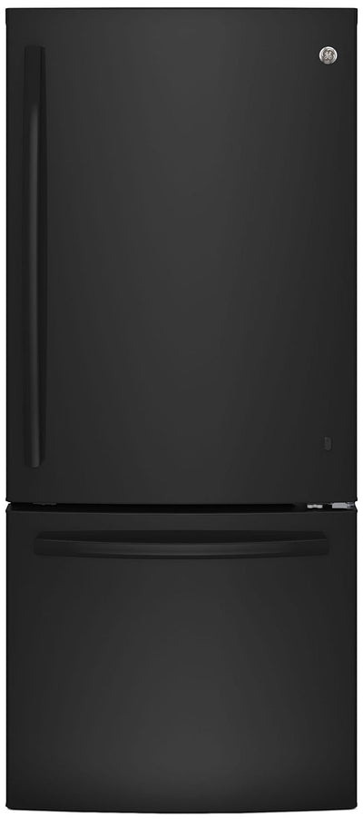 GE 20.9 Cu. Ft. Bottom-Freezer Refrigerator – GBE21AGKBB - Refrigerator in Black