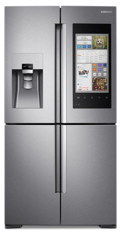 Samsung 22 cu. ft. 4-Door Flex™ with Family Hub™ – RF22M9581SR/AC - Refrigerator with Exterior Water/Ice Dispenser in Stainless Steel