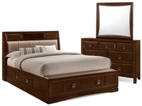 Bella 5-Piece Queen Bookcase Storage Bedroom Collection