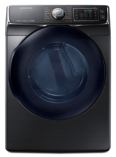 Samsung 7.5 Cu. Ft. Electric Dryer – Black Stainless Steel DV50K7500EV/AC - Dryer in Black Stainless Steel
