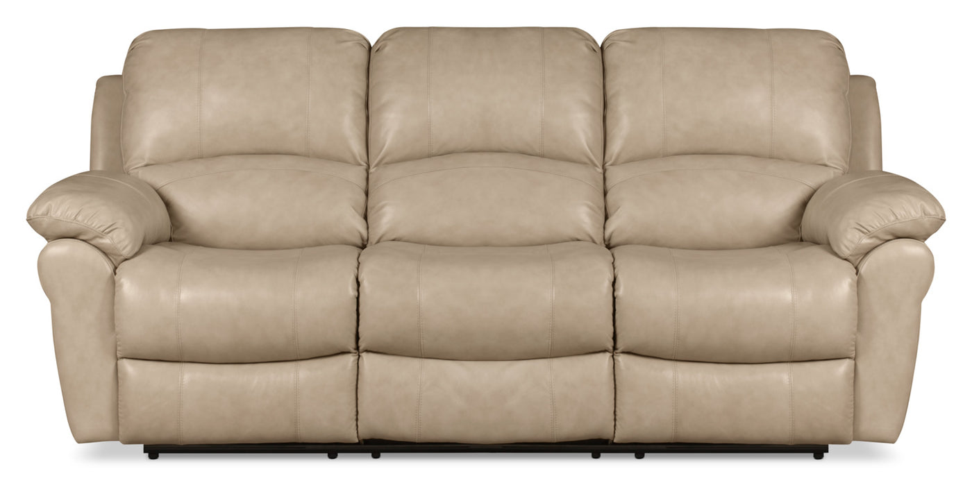 Pleasing Kobe Genuine Leather Reclining Sofa Stone Download Free Architecture Designs Grimeyleaguecom