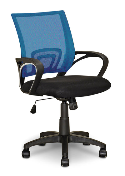 Loft Mesh Office Chair – Light Blue|Chaise de bureau Loft en mailles - bleu pâle|LOLBLCHR