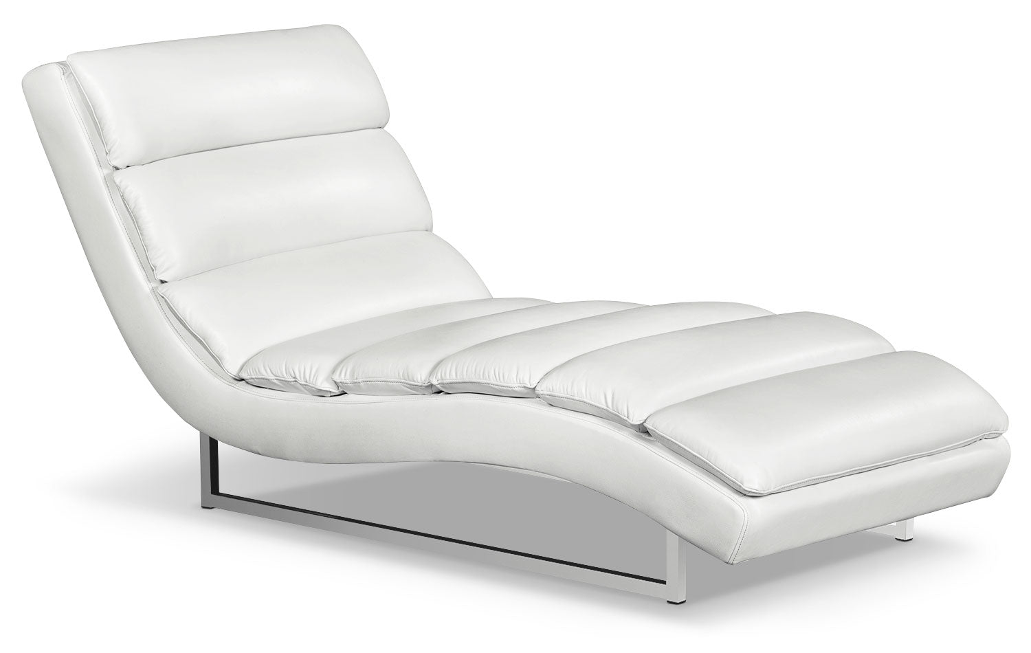 Maddy Leather-Look Fabric Chaise – Cream | The Brick on chaise longue, chaise en bois, chaise lounge, chaise en transparent,