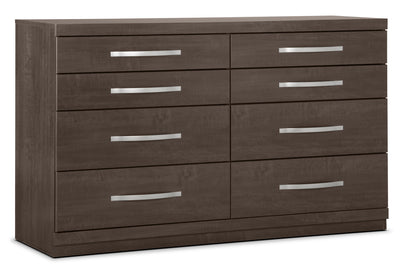 Willowdale Dresser - Contemporary style Dresser in Grey Engineered Wood and Laminate Veneers