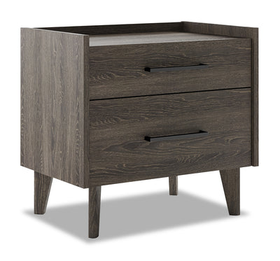 Jasper Nightstand - Modern style Nightstand in Slate Medium Density Fibreboard (MDF)