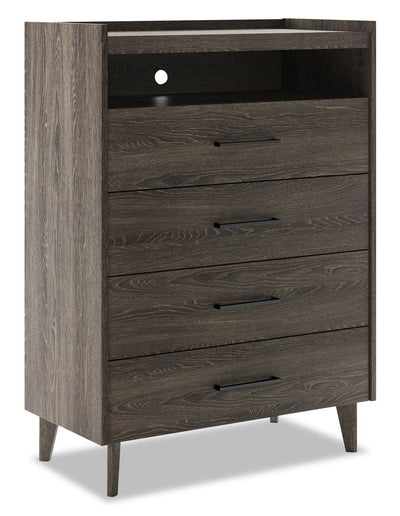 Jasper Chest - Modern style Chest in Slate Medium Density Fibreboard (MDF)
