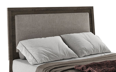 Jasper King Headboard - Modern style Headboard in Slate Medium Density Fibreboard (MDF)