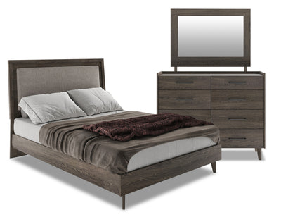 Jasper 5-Piece Queen Bedroom Package - Modern style Bedroom Package in Slate Medium Density Fibreboard (MDF)