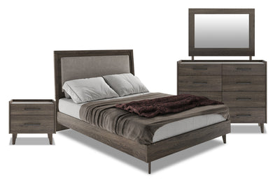 Jasper 6-Piece Queen Bedroom Package - Modern style Bedroom Package in Slate Medium Density Fibreboard (MDF)