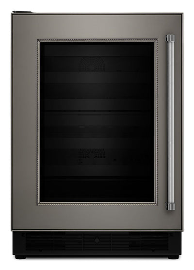 KitchenAid Panel-Ready Wine Cellar - KUWL204EPA|Cellier KitchenAid de 24 po avec charnières à gauche et supports en bois - KUWL204EPA|KUWL204P