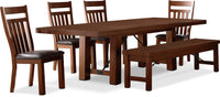 Diego 6-Piece Dining Package with Wooden Chairs