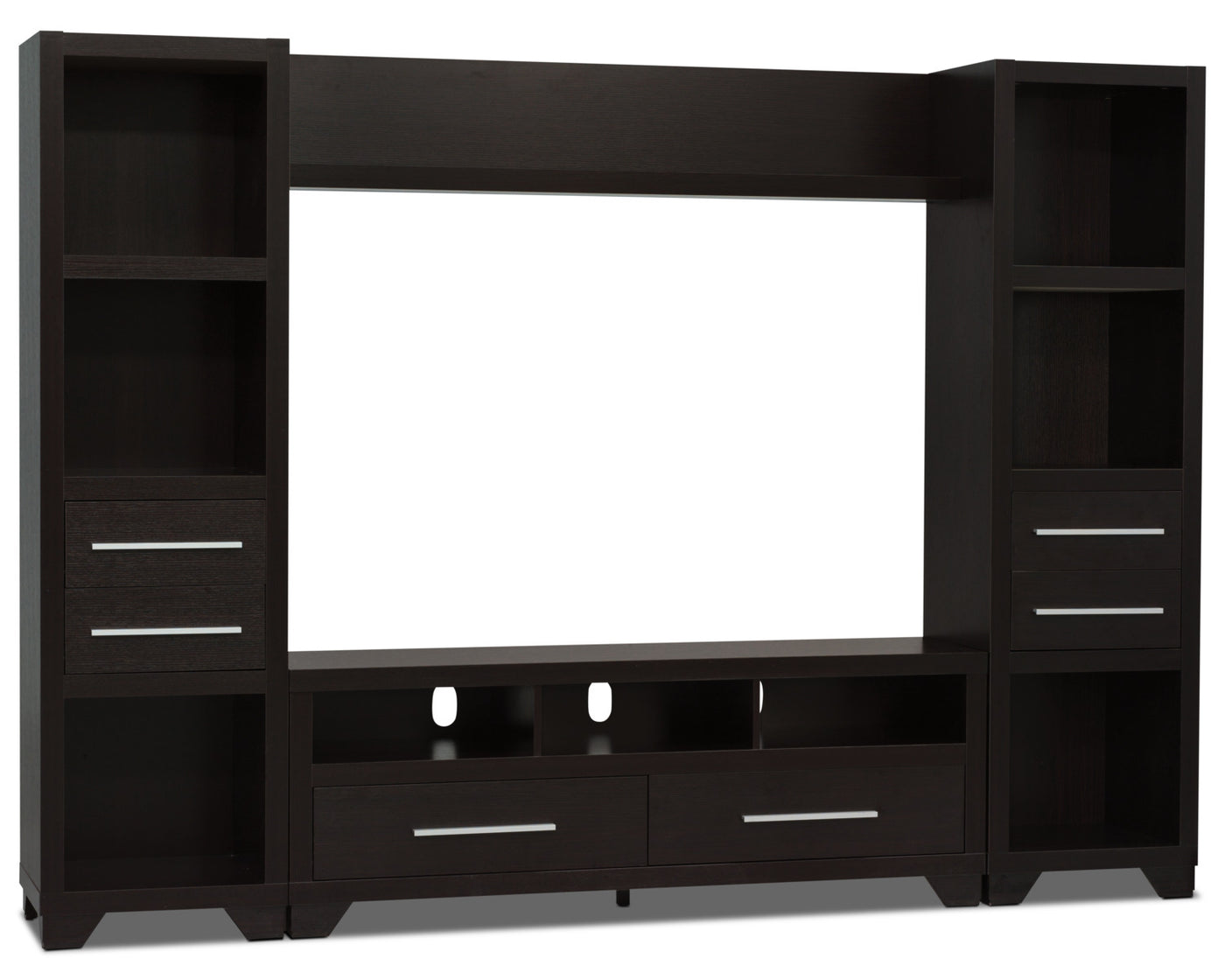 Glendale 4 Piece Entertainment Centre With 60 Tv Opening Espresso The Brick
