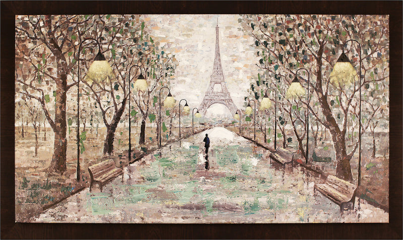"Walk to Eiffel Tower – 59.5"" x 35.5""