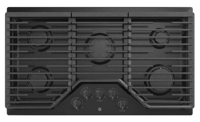 "GE 36"" Built-In Gas Cooktop - JGP5036DLBB - Gas Cooktop in Black"