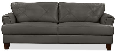 Vita 100% Genuine Leather Sofa – Charcoal - Modern style Sofa in Charcoal