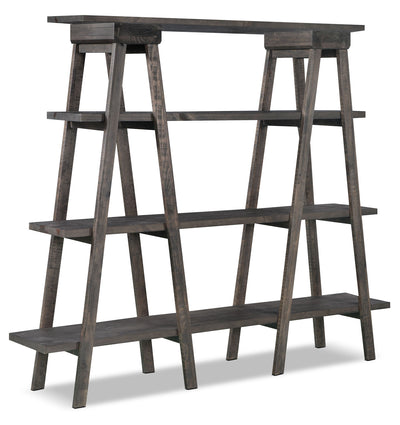 Calistoga Open Bookcase - Contemporary style Bookcase in Grey Wood