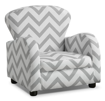 Monarch Children's Armchair – Grey Stripe|Fauteuil à accoudoirs Monarch pour enfants - rayures grises|I8143GCH