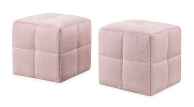 Monarch Children's 2-Piece Ottoman Set – Pink|Ensemble de poufs Monarch 2 pièces pour enfants - rose|I8165POT