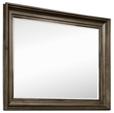 Calistoga Mirror - Weathered Charcoal - Rustic style Mirror in Charcoal Pine Solids