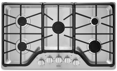 "Maytag 36"" Gas Cooktop – MGC7536DS - Gas Cooktop in Stainless Steel"